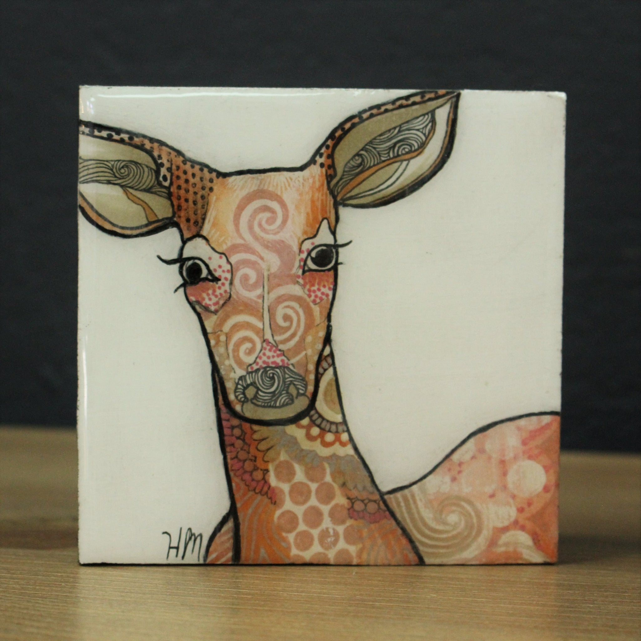 Original Painting of a Deer by Canadian Artist Hanna Mark