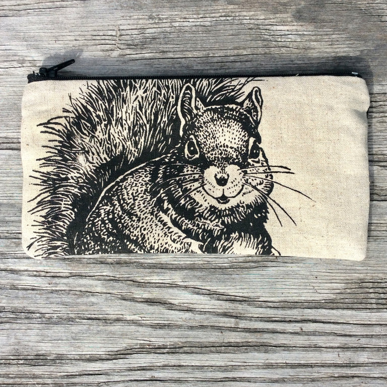 Wildlife Illustration Pencil Case - Squirrel