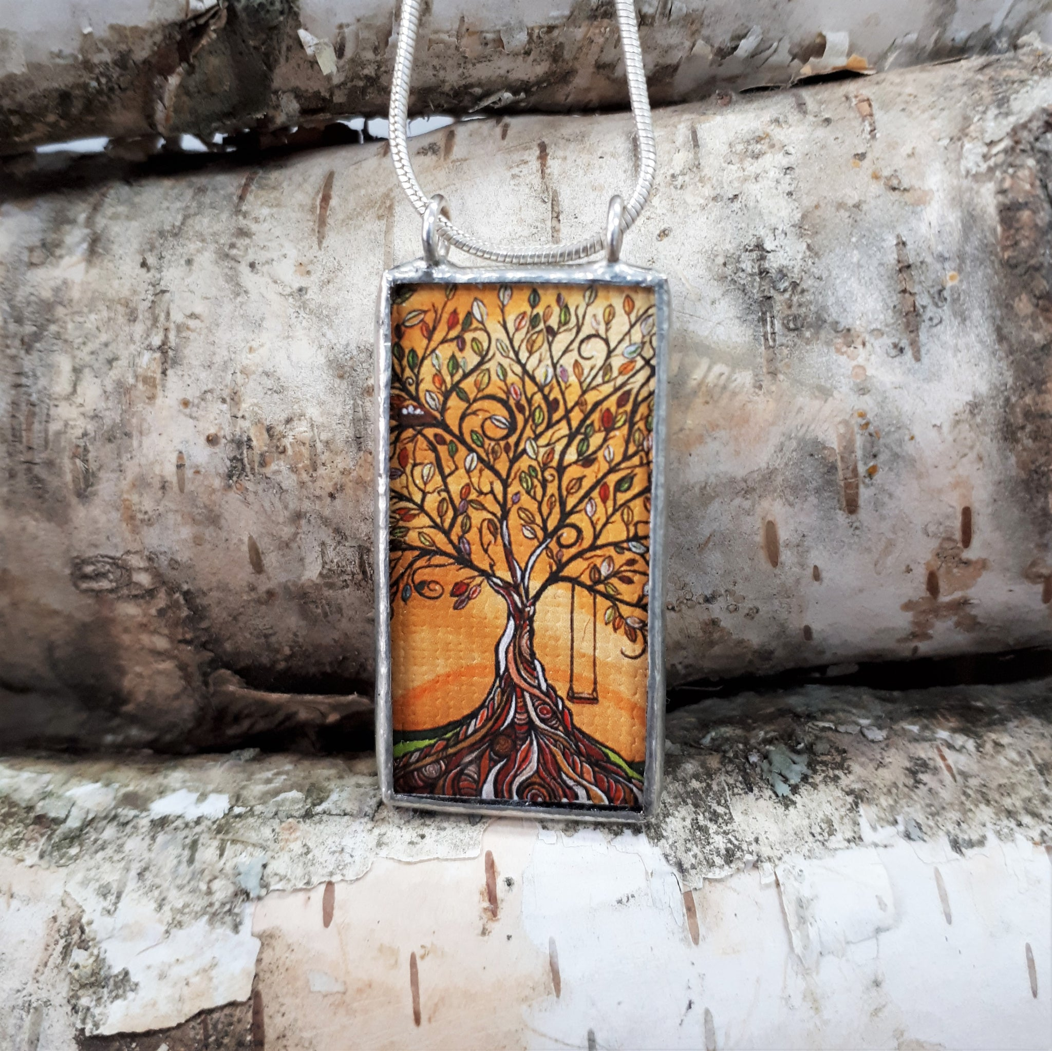 Framed Art Pendant - Tree Swing