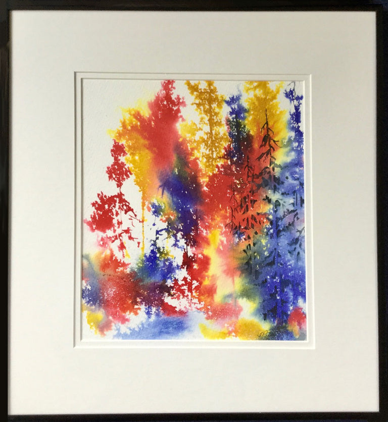 Framed Original Watercolour - FOREST JEWELS