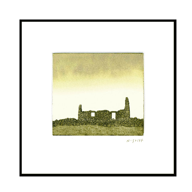 Framed Print - Stone Cottage Ruin