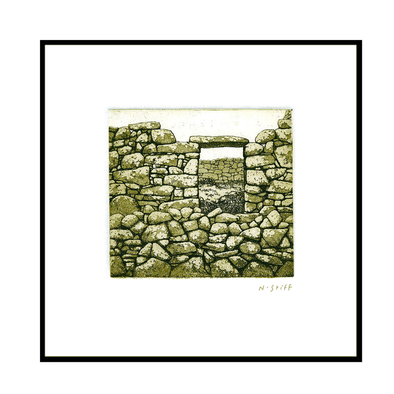 Framed Print - Stone Cottage Window