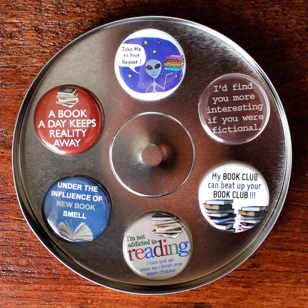 Book Lovers Magnets - Set of Six