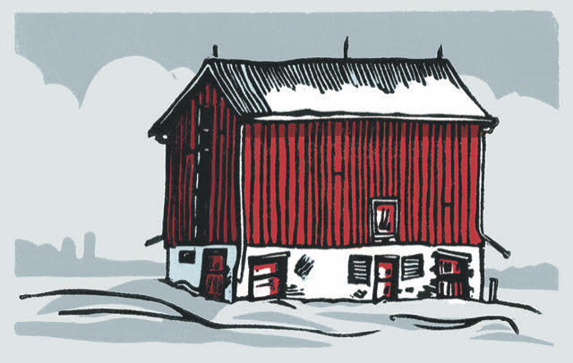 Open Edition Matted Print - RED BARN