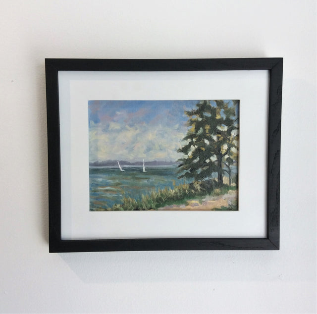 Original Oil - SAILING OFF BRONTE, ON