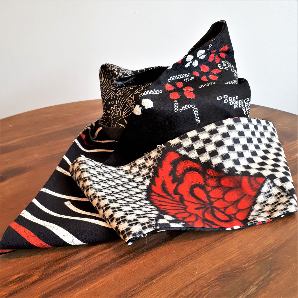 Silk Scarf, handmade in Canada from Japanese Kimonos