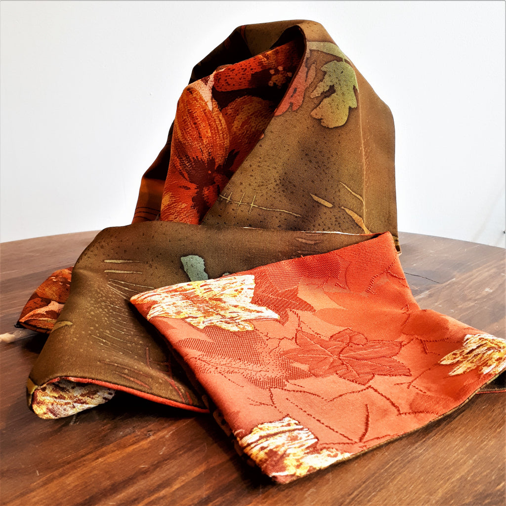 Silk Scarf - Fall Leaves