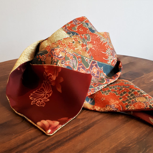 Silk Scarf - Flowers and Butterflies