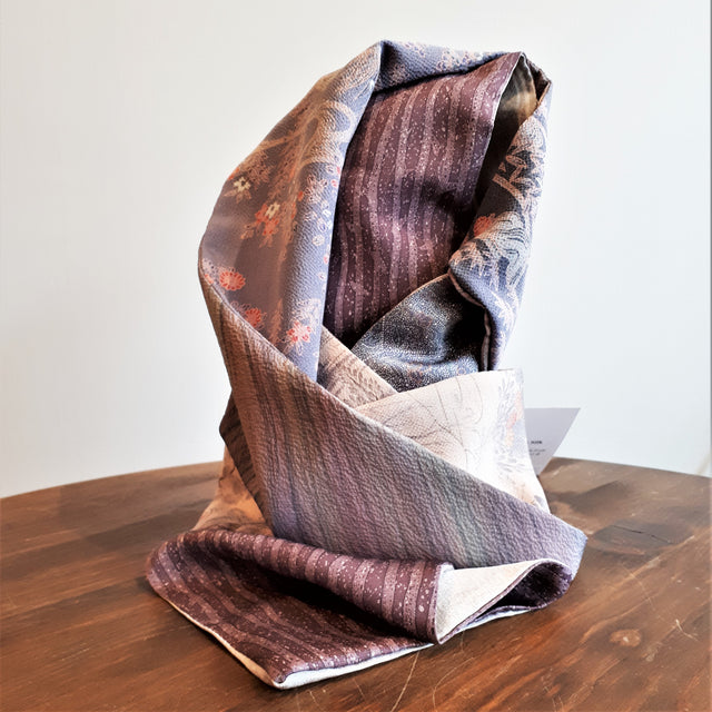 Silk Scarf - Purples and Mauves