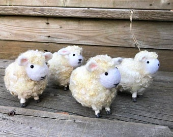 Wool Sculpture - White Sheep