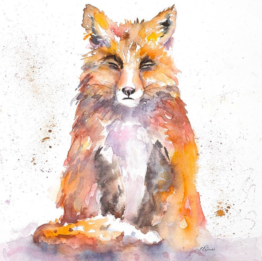 Framed Original Watercolour - SITTING PRETTY
