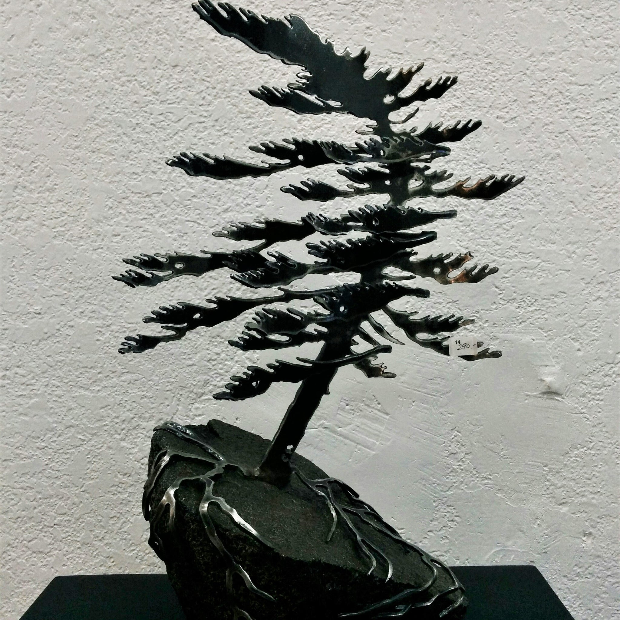 Cut-Steel Sculpture 290 - Tree on Granite