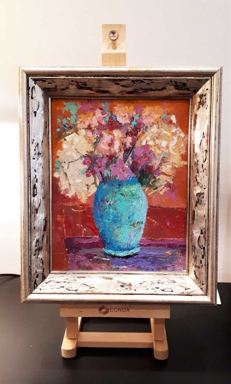 Original Oil Painting - THE BLUE VASE