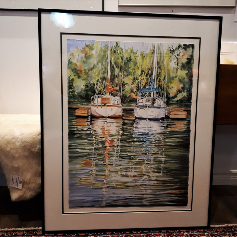 Framed Original Painting - TWO FOR THE SHOW