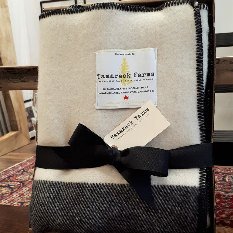 Tamarack Farms Wool Blanket, Inaugural Design