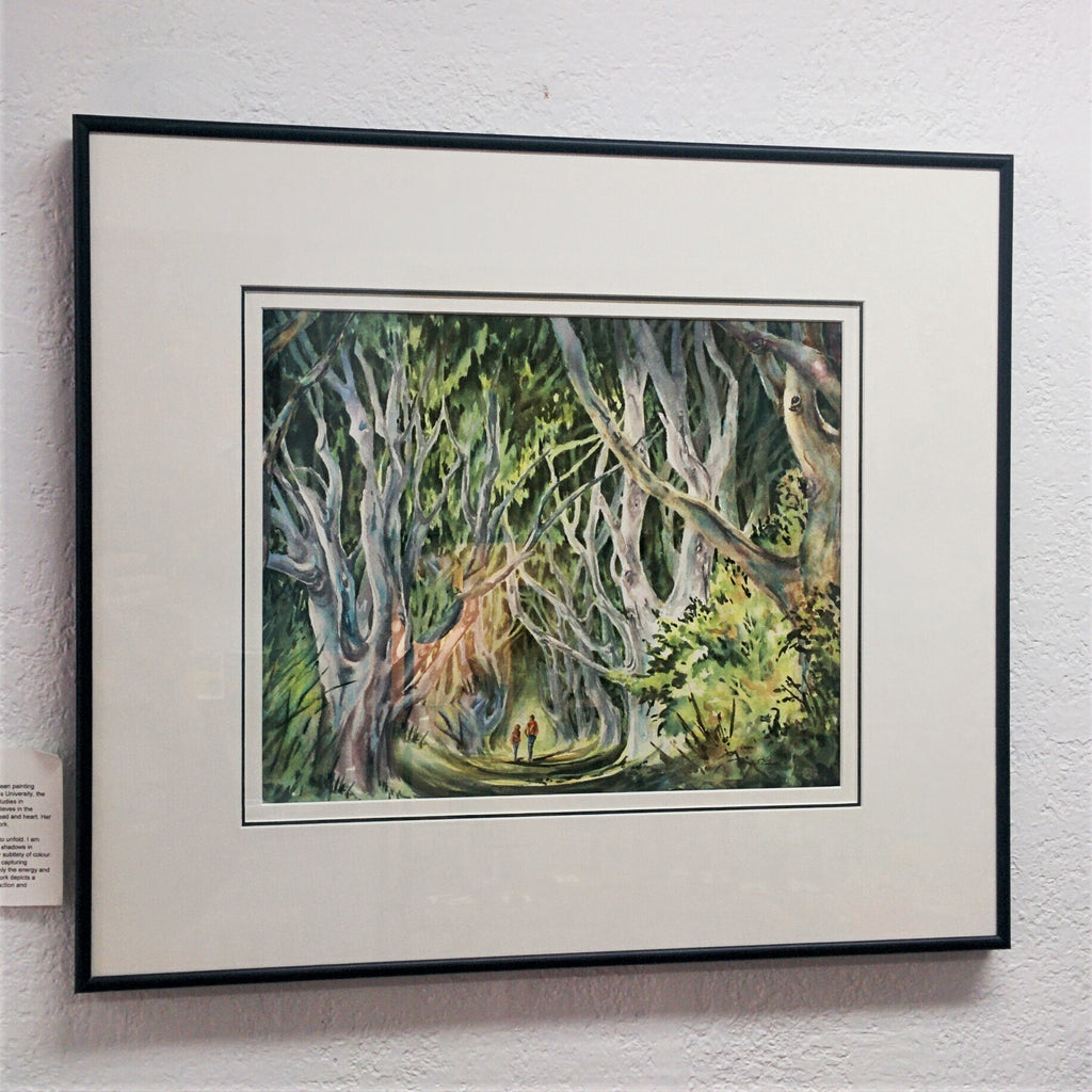 Framed Original Watercolour - THE HEDGES