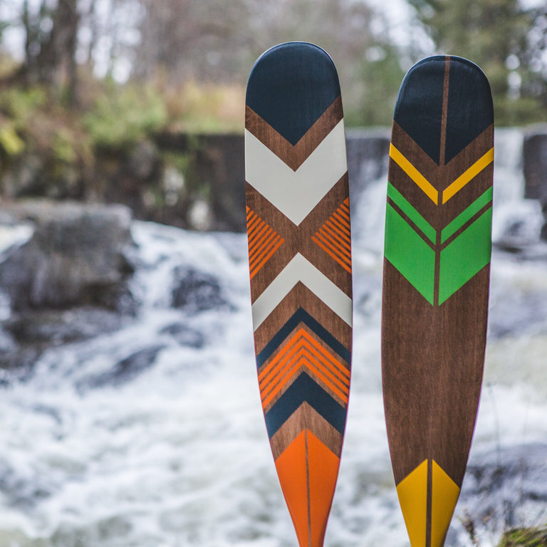 Handpainted Maple Canoe Paddles