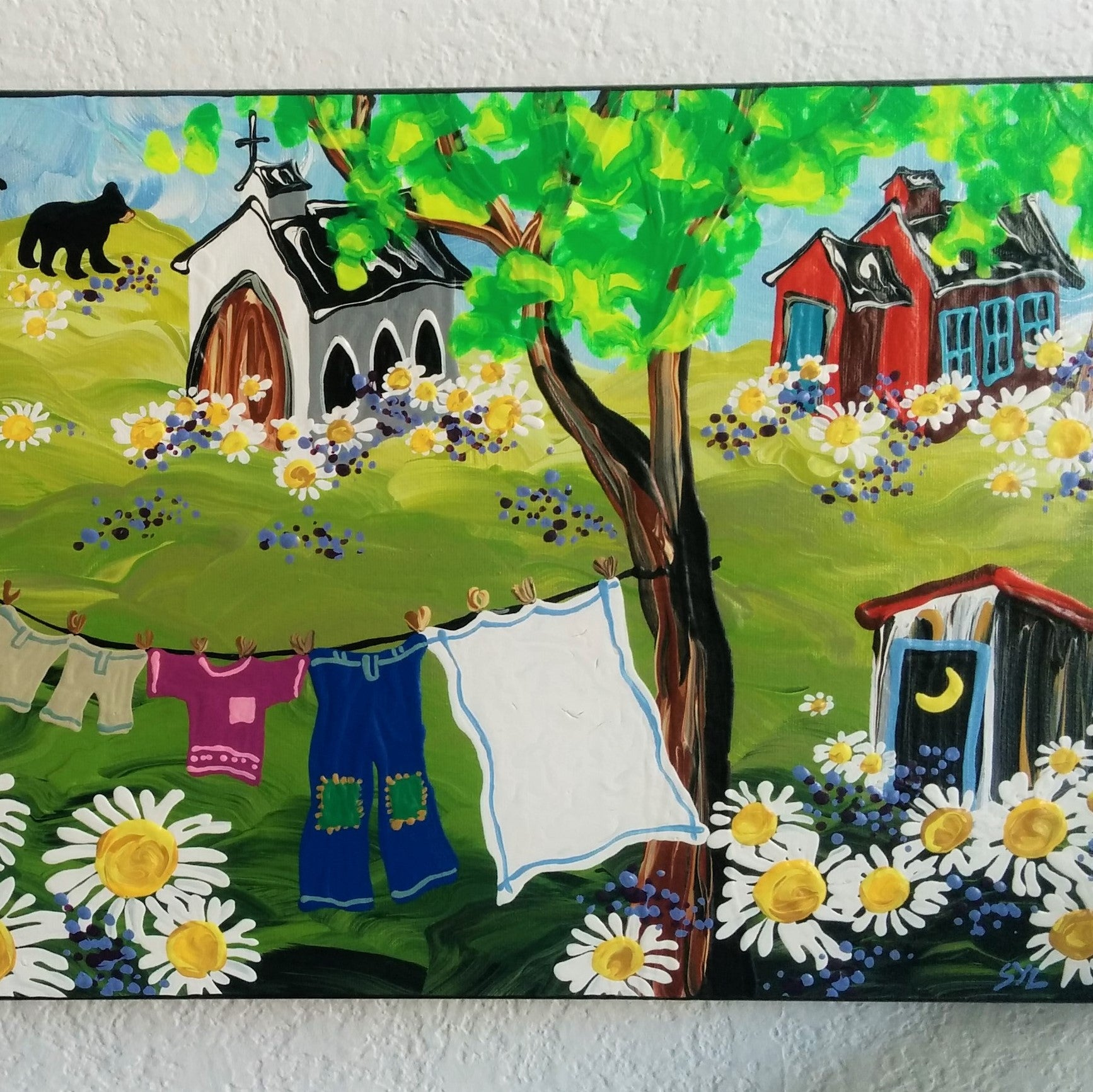 Original Acrylic Painting - Village One