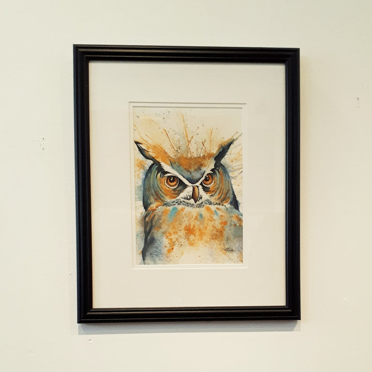 Framed Original Watercolour - WE ARE NOT AMUSED