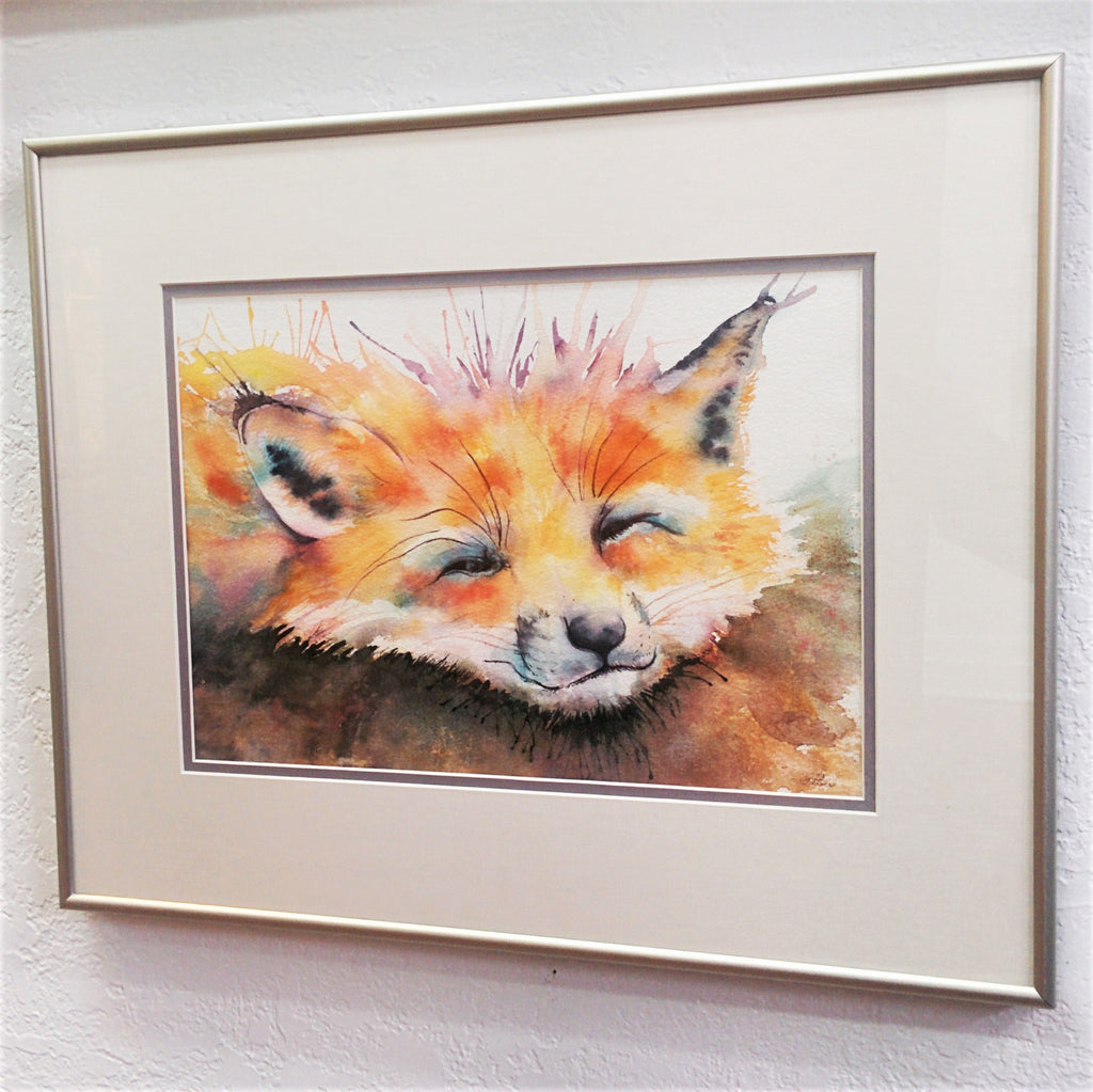 Framed Original Watercolour - WILY