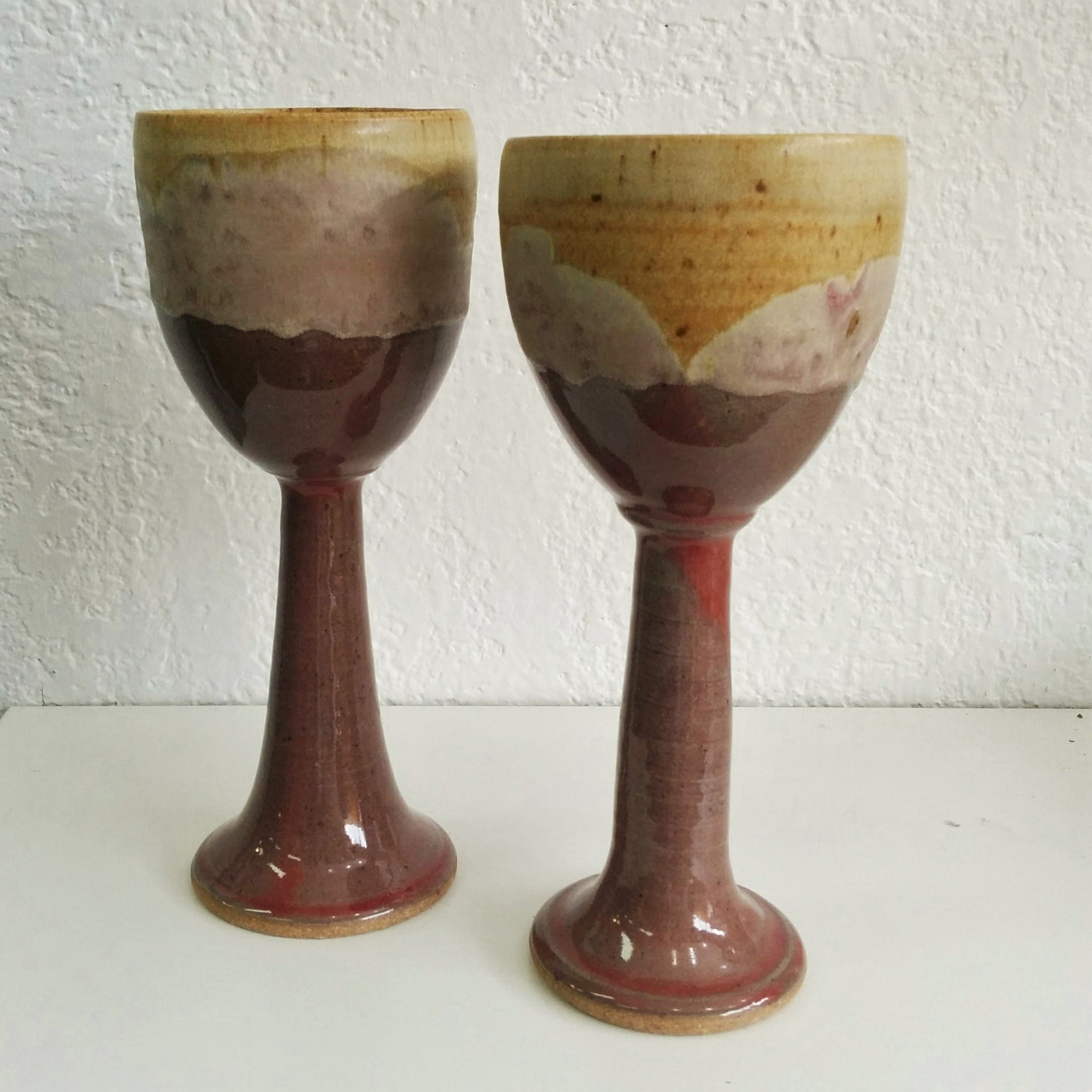 Pottery Wine Stems - Set of Two