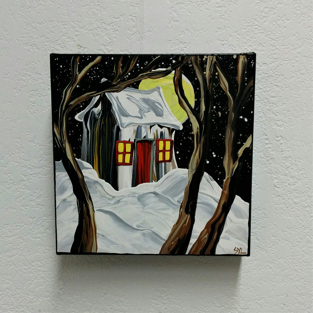 Original Acrylic Painting - WINTER TWINKLE