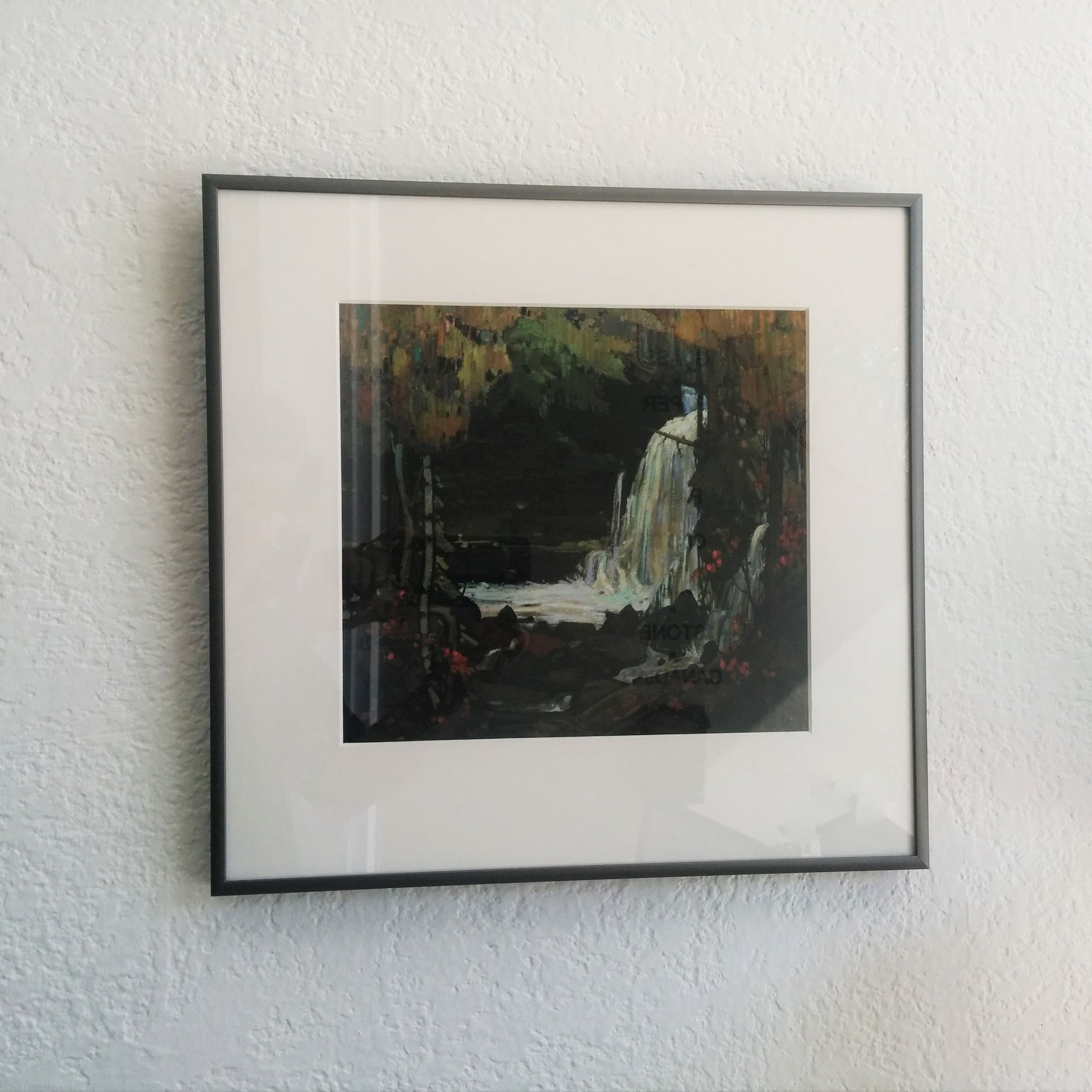 Group of Seven framed print, Woodland Waterfall, Tom Thomson, 1916