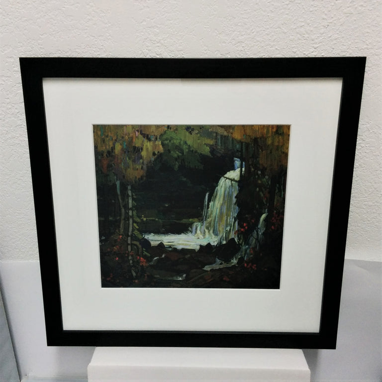 Framed Group of Seven Print - Tom Thomson - Woodland Waterfall, 1916