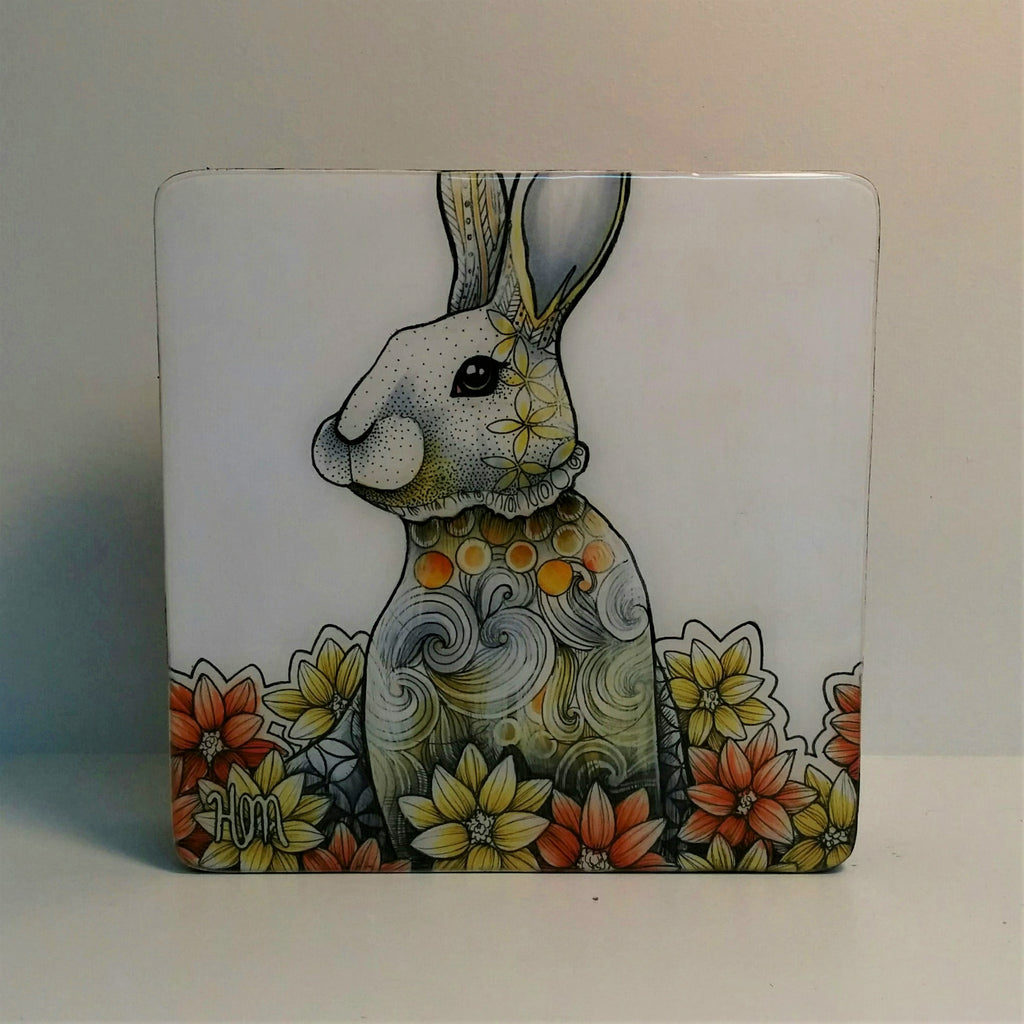 Original Ink, Pencil and Watercolour Work - YELLOW REGAL RABBIT