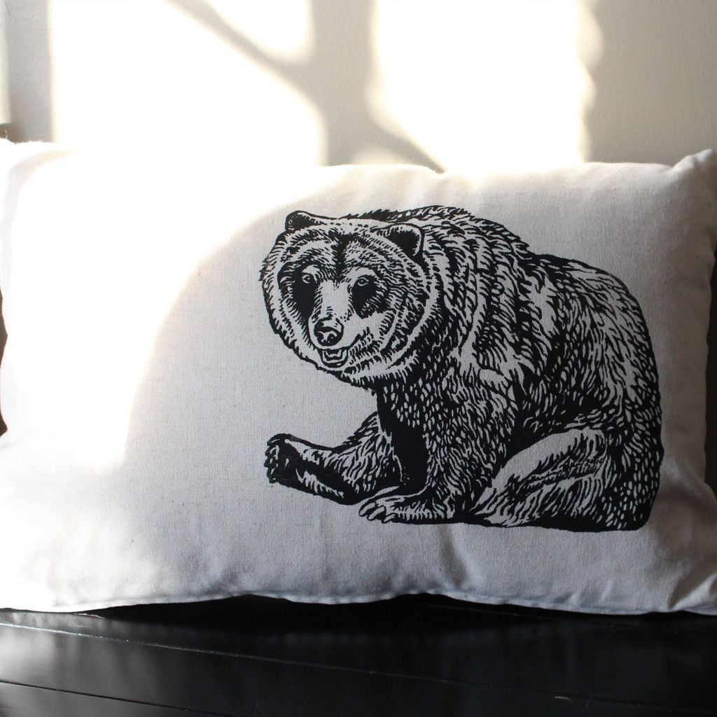 Grizzly Bear Wildlife Pillow