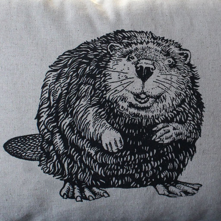 Cheeky Beaver Wildlife Pillow