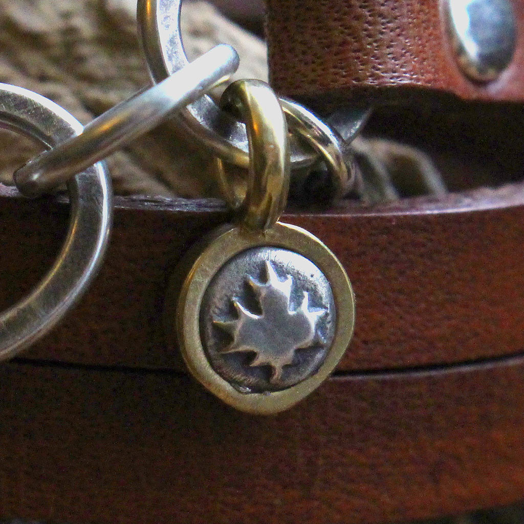 """On the Lake"" Sterling Silver Charms Leather Bracelet - Celebrating Canada's 150"
