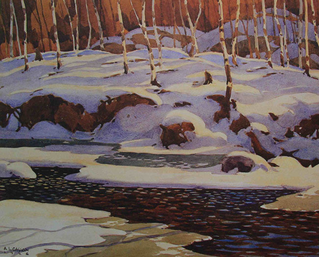 Group of Seven Large Print - A. J. Casson - Winter on the Don