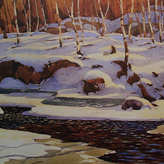 Group of Seven Large Framed Print - A. J. Casson - Winter on the Don - Save $100