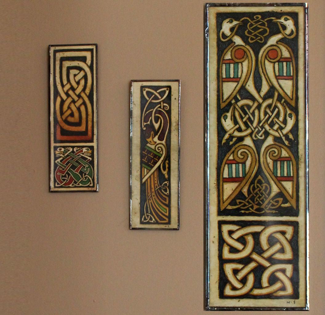 Celtic Drawings - Set of Three Framed Prints