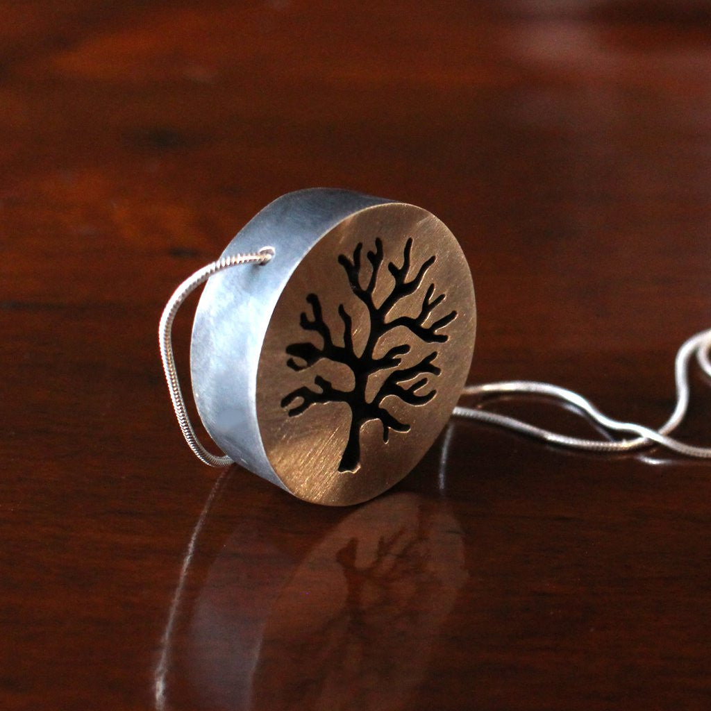 Sterling Silver Crabapple Tree Necklace