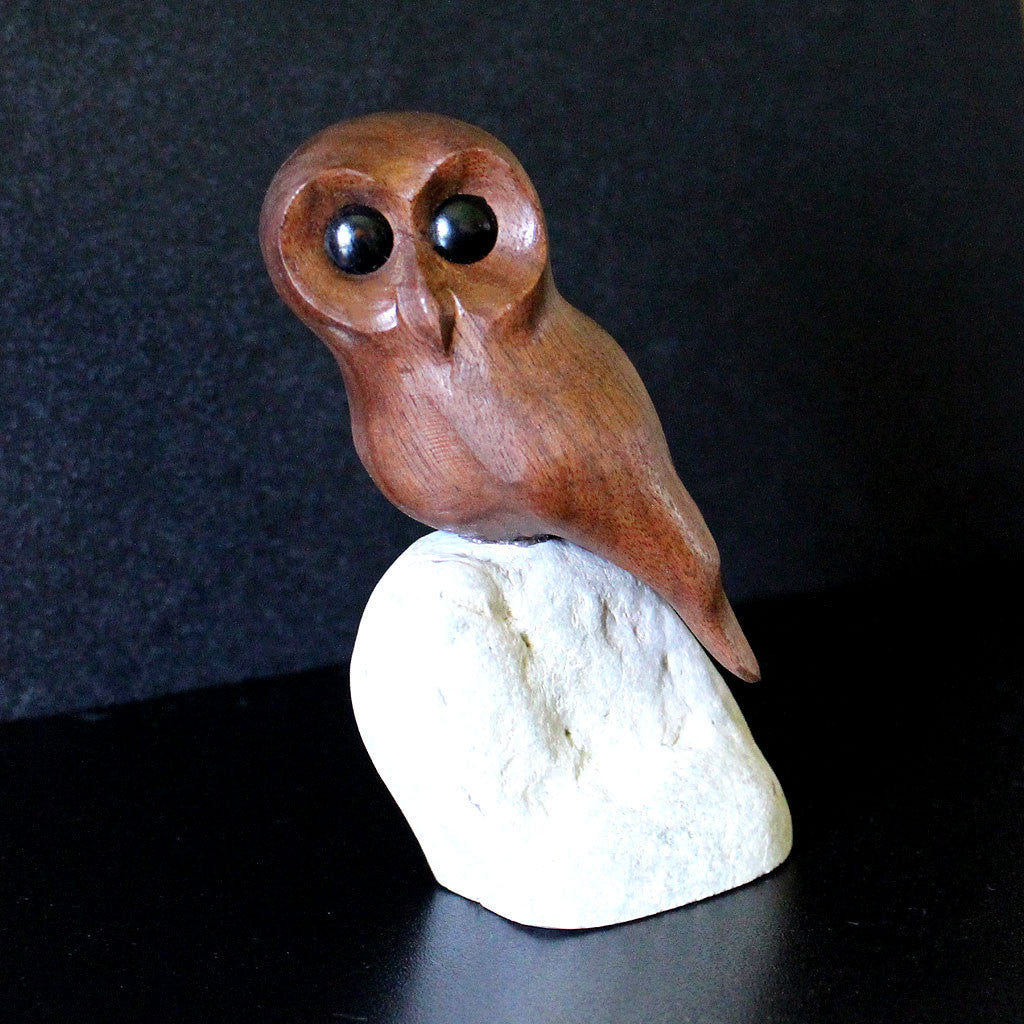 Saw Whet Owl - Hand Carved by Canadian Master Carver