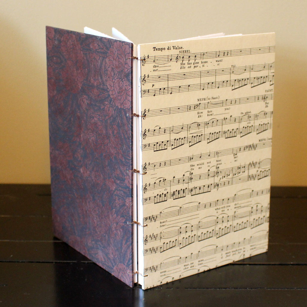 Classic Sketch Book or Journal - Vintage Music
