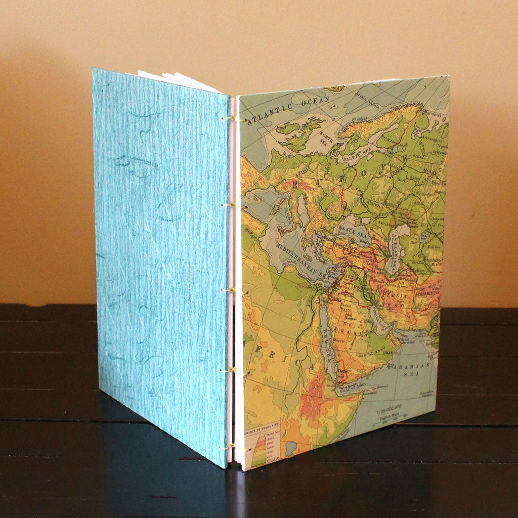 Classic Sketch Book or Journal - Vintage Map