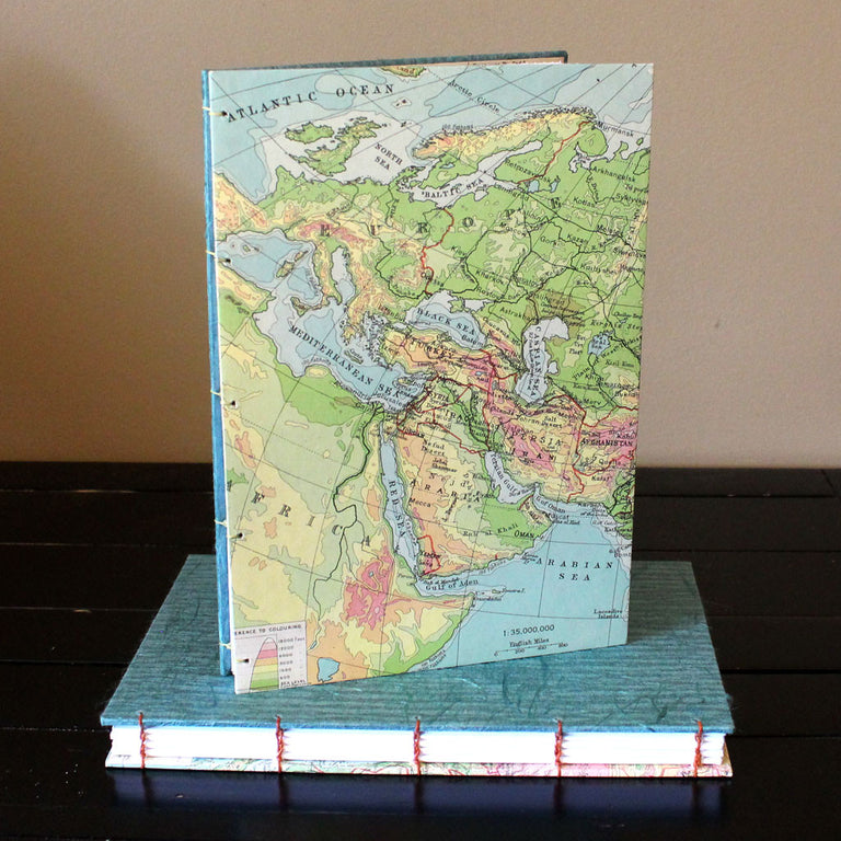 "Classic Sketch Book/Journal (9"" x 6 1/4"") - Vintage Map"