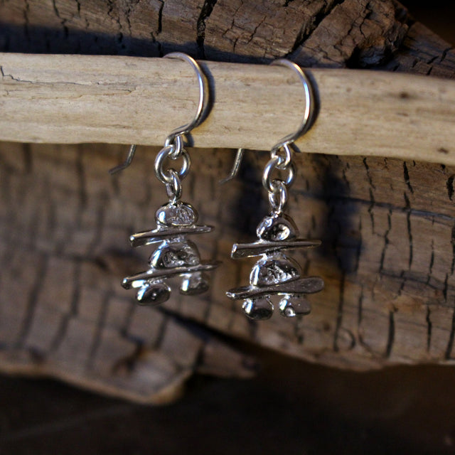 Inukshuk Silver Earrings