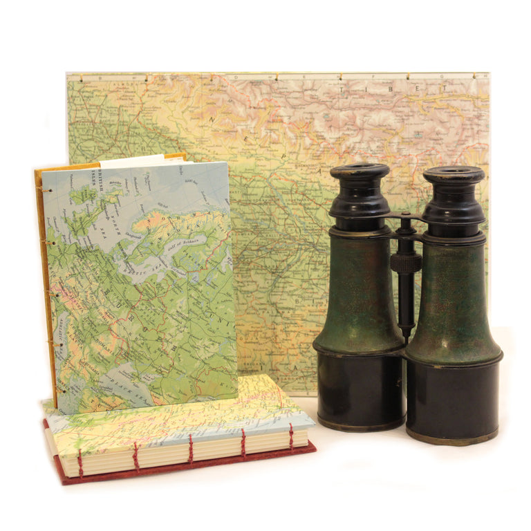Pocket Sketch Book or Journal - Map