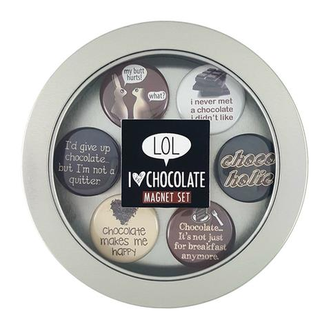 Chocolate Lovers Magnets - Set of Six