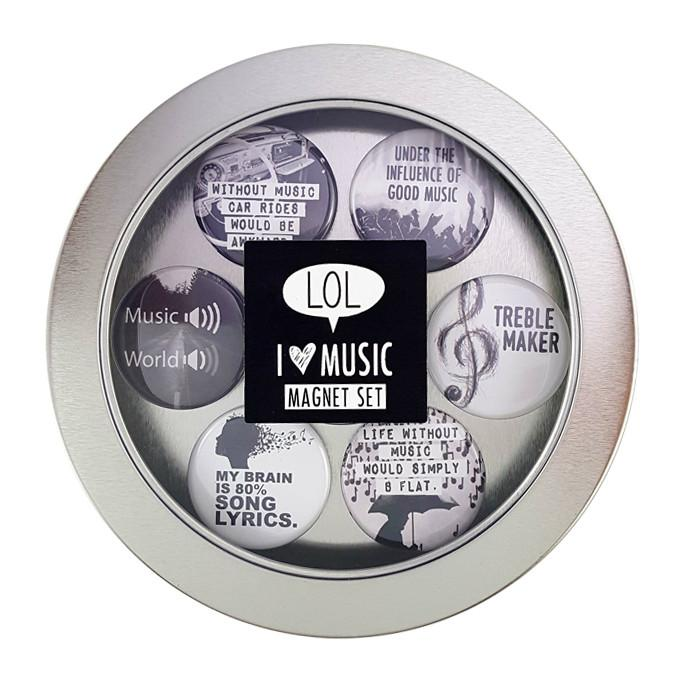 Music Lover Magnets - Set of Six