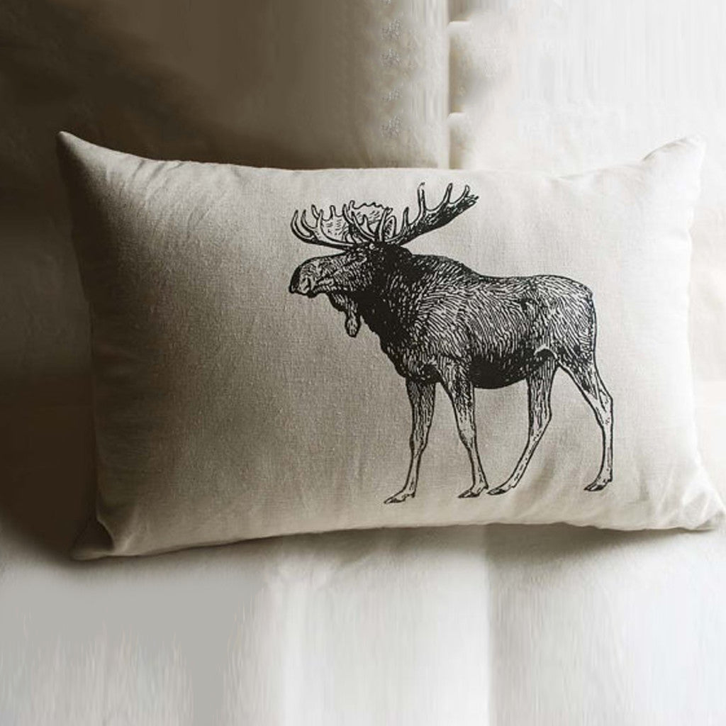 Wildlife Drawing Pillowcase and Pillow - The Majestic Moose