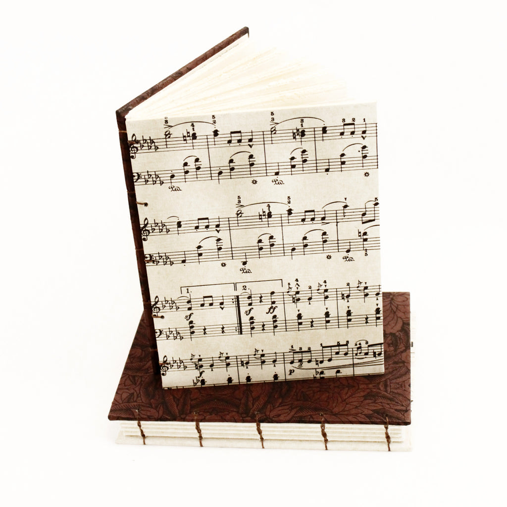 Pocket Sketch Book or Journal - Music Sheet