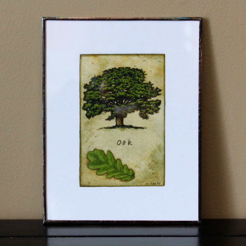 Canadian Tree Framed Print Set - Maple and Oak