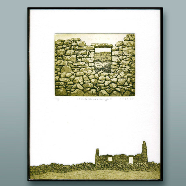 Framed Limited-Edition Etching - sean teach na clochagh III (old house of stones)