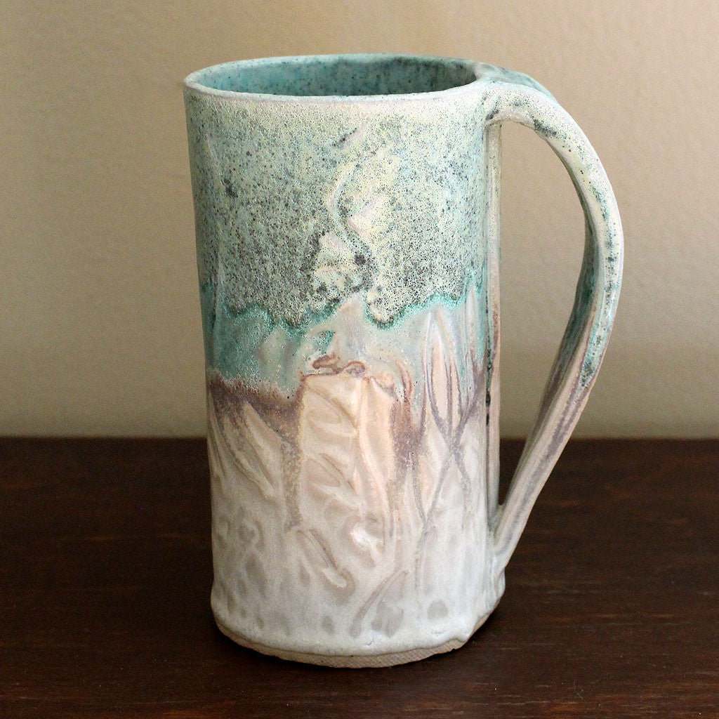 hand formed pottery mug by Canadian artisan