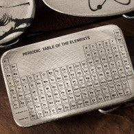 Etched Steel Belt Buckle - Periodic Table